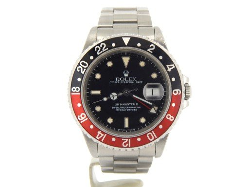 Rolex Stainless Steel GMT Master II 16710 Black & Red Coke -9