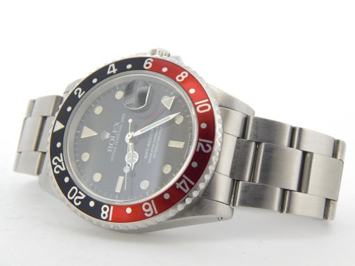 Rolex Stainless Steel GMT Master II 16710 Black & Red Coke -7