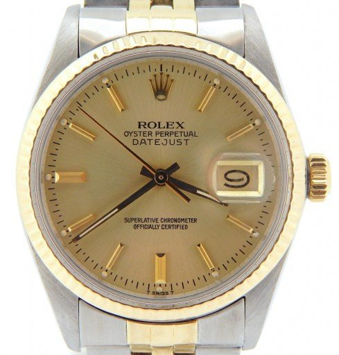 Rolex Two-Tone Datejust 16013 Champagne -1