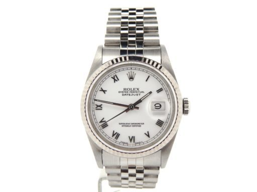 Rolex Stainless Steel Datejust 16234 White Roman-6
