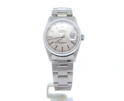 Rolex Stainless Steel Datejust 16200 Silver -5
