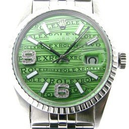 Mens Rolex Stainless Steel Datejust Green Wave Diamond 16030 (SKU 7117260N)