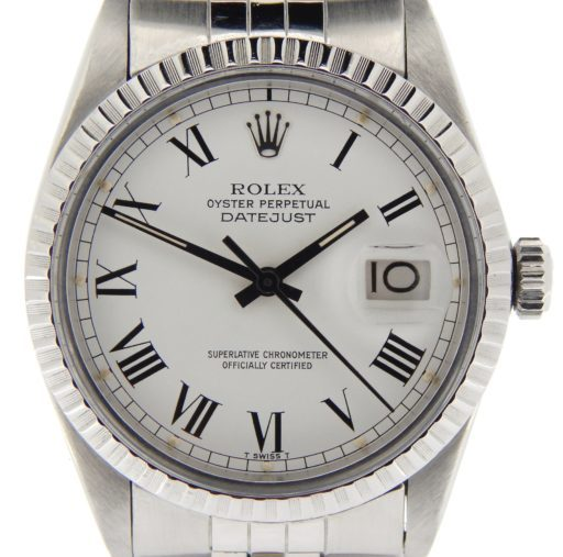Rolex Stainless Steel Datejust 16030 White Roman-1