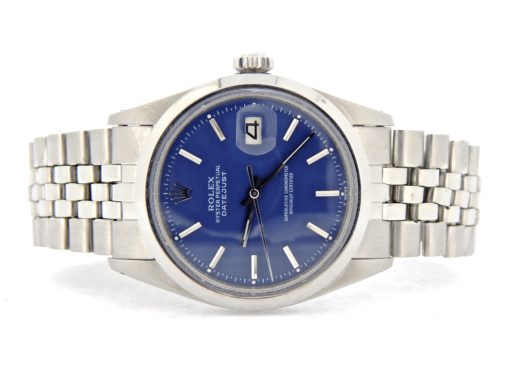 Rolex Stainless Steel Datejust 1603 Blue -8