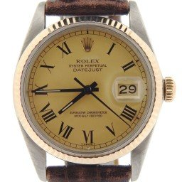 Mens Rolex Two-Tone 14K/SS Datejust Champagne Roman 16013 (SKU 8028107MT)