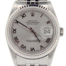 Mens Rolex Stainless Steel Datejust Silver Roman 16234