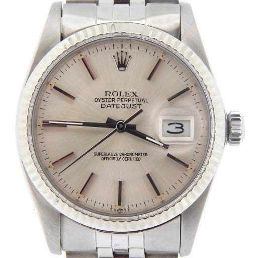Rolex Stainless Steel Datejust 16014 Silver -1
