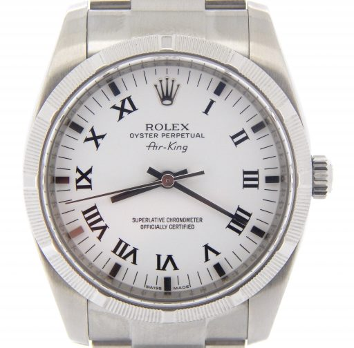 Rolex Stainless Steel Air-King 114210 White-1