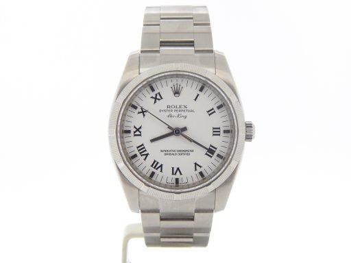 Rolex Stainless Steel Air-King 114210 White-8