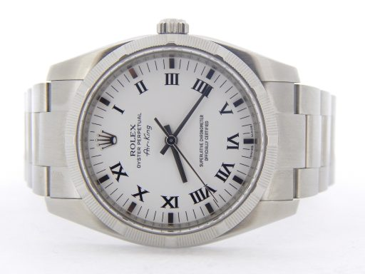 Rolex Stainless Steel Air-King 114210 White-7