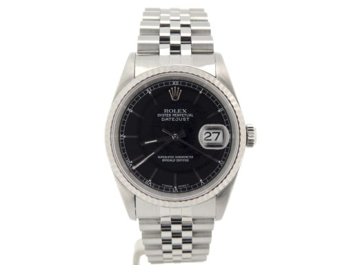 Rolex Stainless Steel Datejust 16234 Black -7