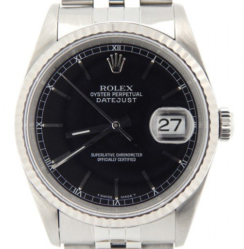 Rolex Stainless Steel Datejust 16234 Black -1