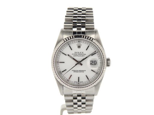 Rolex Stainless Steel Datejust 16234 White -6