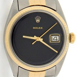 Mens Rolex Two-Tone 14K/SS Datejust Black  1601 (SKU 7050105MT)
