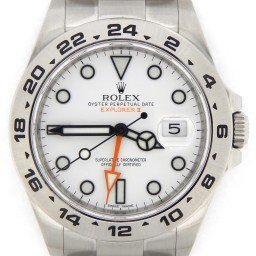Mens Rolex Explorer II Ref 216570 42mm Stainless Steel White