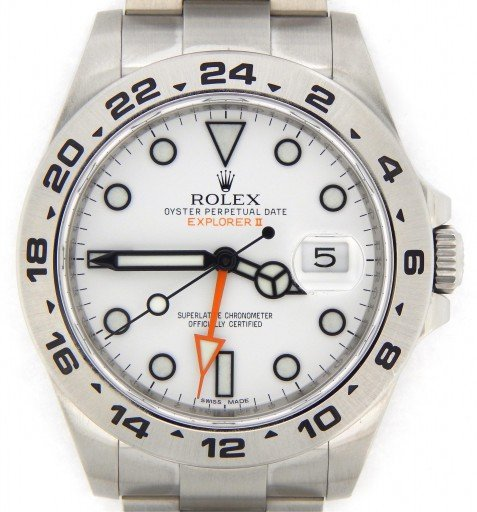 Rolex Stainless Steel Explorer II 216570 White -1