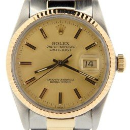 Mens Rolex Two-Tone 14K/SS Datejust Champagne  16013 (SKU 8279669NMT)