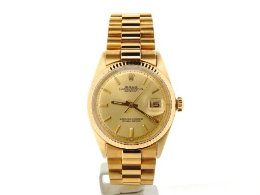 Rolex 18K Yellow Gold Datejust 1601 Champagne -7