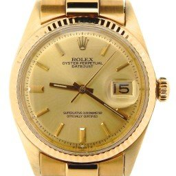 Mens Rolex 18K Yellow Gold Datejust w/Gold Plated Band 1601 (SKU 670096NMT)