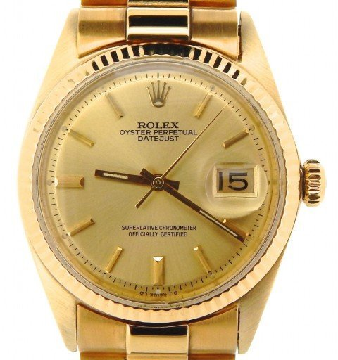 Rolex 18K Yellow Gold Datejust 1601 Champagne -1