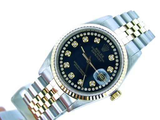 Rolex Two-Tone Datejust 16013 Black Diamond-3
