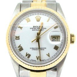 Mens Rolex Two-Tone 18K/SS Datejust White Roman 16233 (SKU T592568ABCMT)