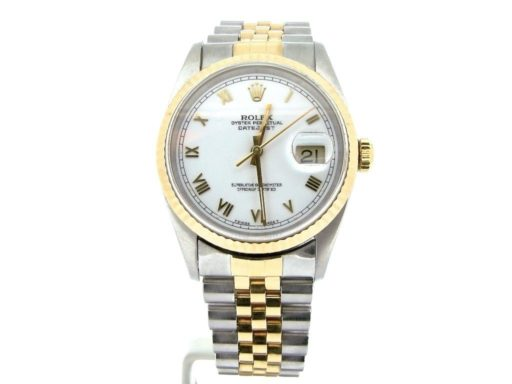 Rolex Two-Tone Datejust 16233 White Roman-7