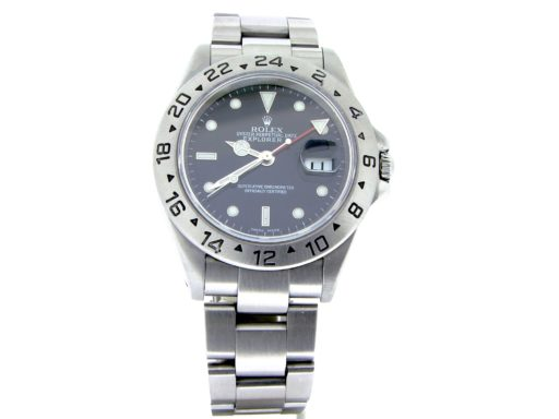 Rolex Stainless Steel Explorer II 16570 Black -8