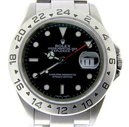 Rolex Stainless Steel Explorer II 16570 Black -1