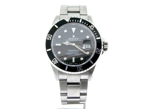 Rolex Stainless Steel Submariner 16610 Black -5