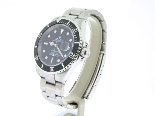 Rolex Stainless Steel Submariner 16610 Black -4