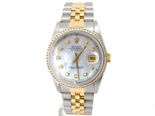 Rolex Two-Tone Datejust 16233 White MOP Diamond-5