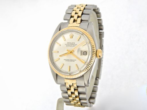 Rolex Two-Tone Datejust 1601 Silver -7