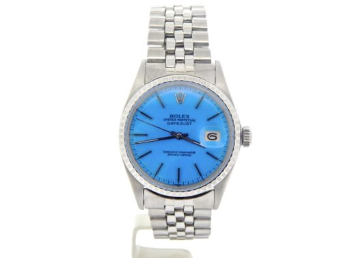 Rolex Stainless Steel Datejust 1603 Blue -7