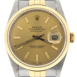 Mens Rolex Two-Tone 18K/SS Datejust Champagne  16233 (SKU L558159MT)