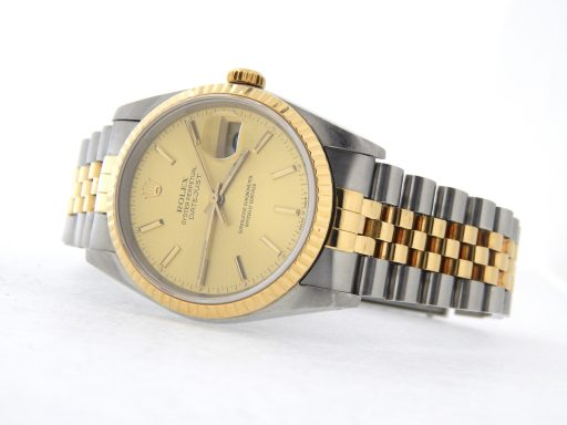 Rolex Two-Tone Datejust 16233 Champagne -6