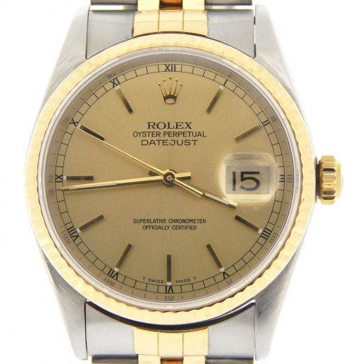 Rolex Two-Tone Datejust 16233 Champagne -1