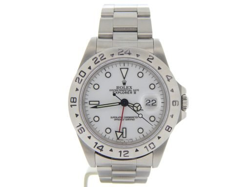 Rolex Stainless Steel Explorer II 16570 White -9