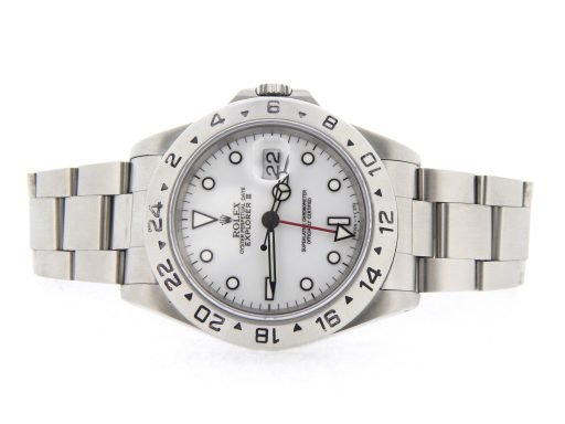 Rolex Stainless Steel Explorer II 16570 White -8
