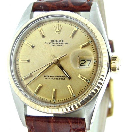 Rolex Two-Tone Datejust 1601 Champagne