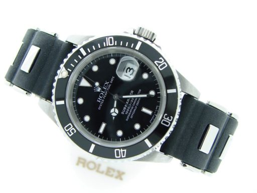 Rolex Stainless Steel Submariner 16610 Black -9