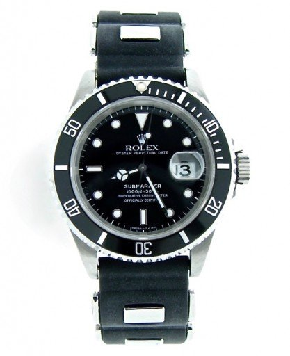 Rolex Stainless Steel Submariner 16610 Black -10
