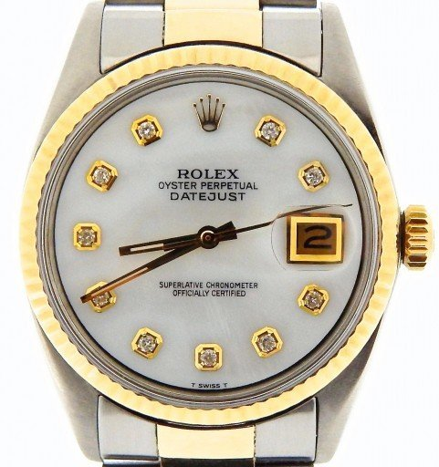 Rolex Two-Tone Datejust 1601 White MOP Diamond-1