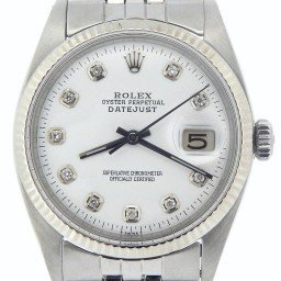 Mens Rolex Stainless Steel Datejust White Diamond 1601