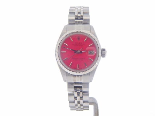 Rolex Stainless Steel Datejust 6924 Pink -7