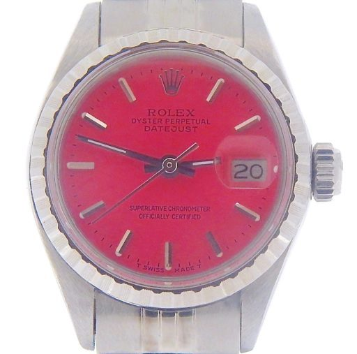 Rolex Stainless Steel Datejust 6924 Pink -1