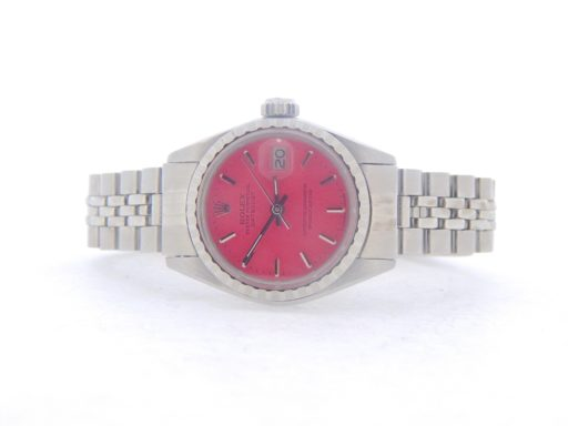 Rolex Stainless Steel Datejust 6924 Pink -4