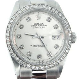 Mens Rolex Stainless Steel Datejust Silver Diamond 1603