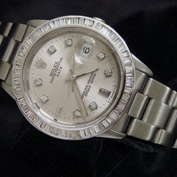 Mens Rolex Stainless Steel Date Silver Diamond 15200 (SKU E103394DMT)