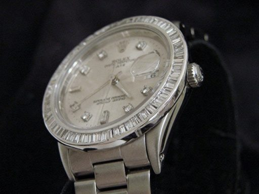 Rolex Stainless Steel Date 15200 Silver Diamond-5